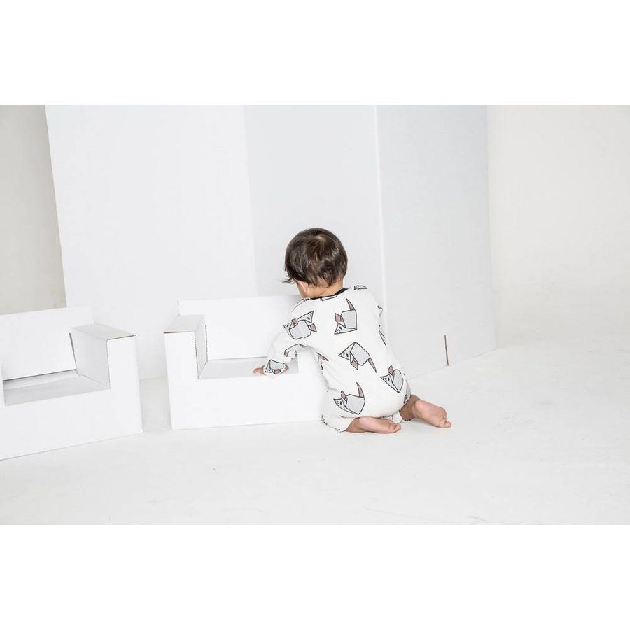 Turtledove London Origami Mouse Playsuit-4