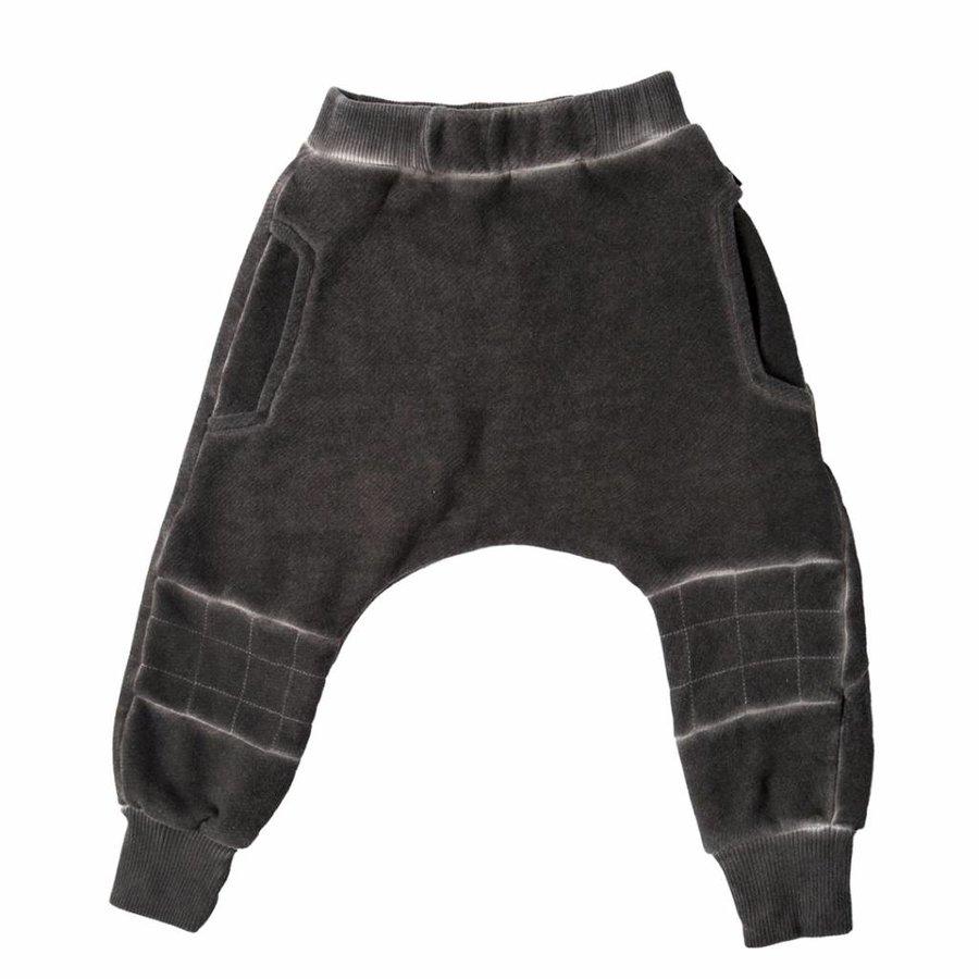 Tuli Bert Harem Cube Patch Washed Donkergrijs-1