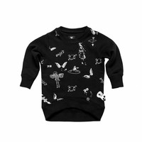 thumb-Tuli Bert Sweatshirt Angel Zwart-1