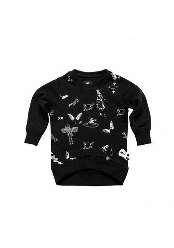 Sweatshirt Angel Zwart