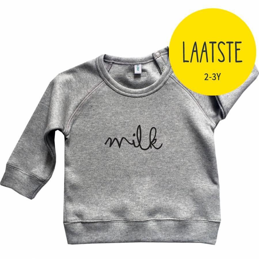 Organic Zoo Sweatshirt MILK Grijs-1