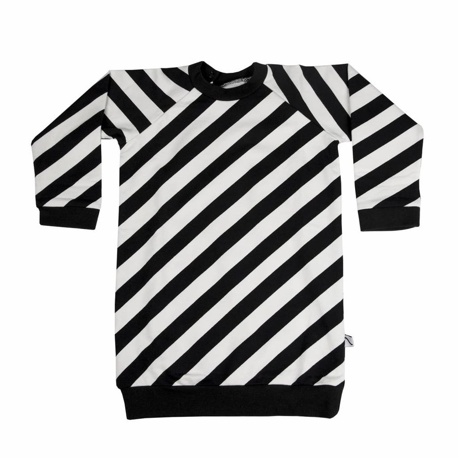 CarlijnQ Sweater Jurk 'Electric Zebra'-1