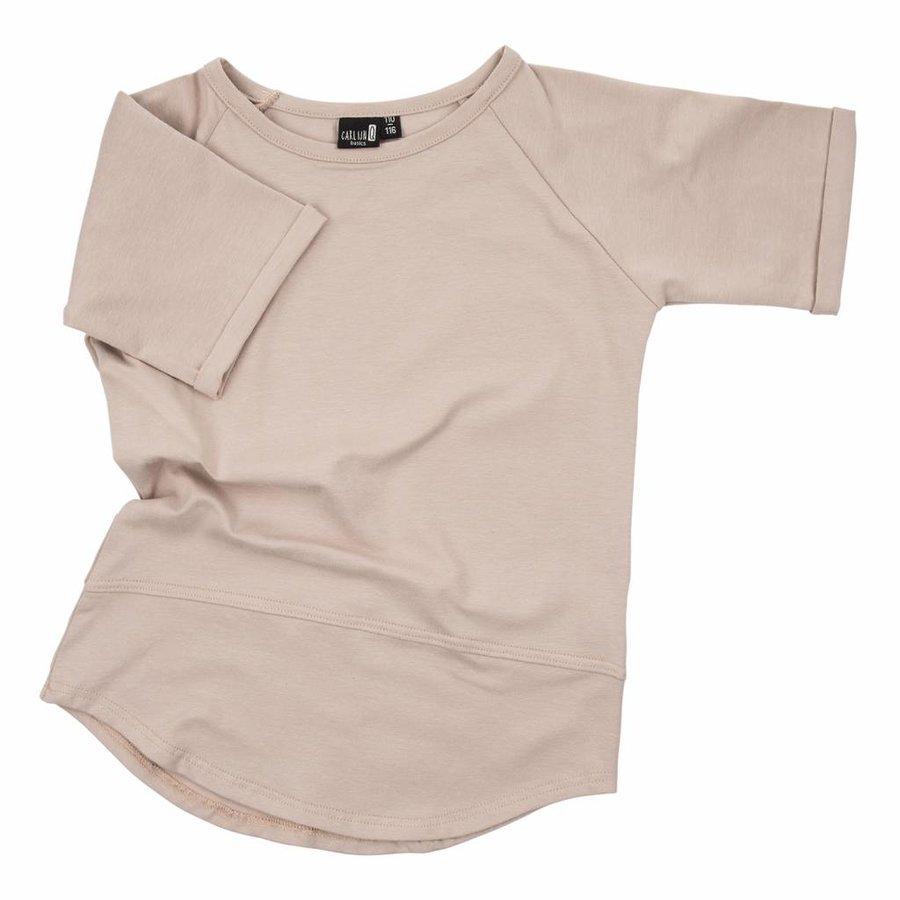 CarlijnQ Basic T-shirt Sand-1