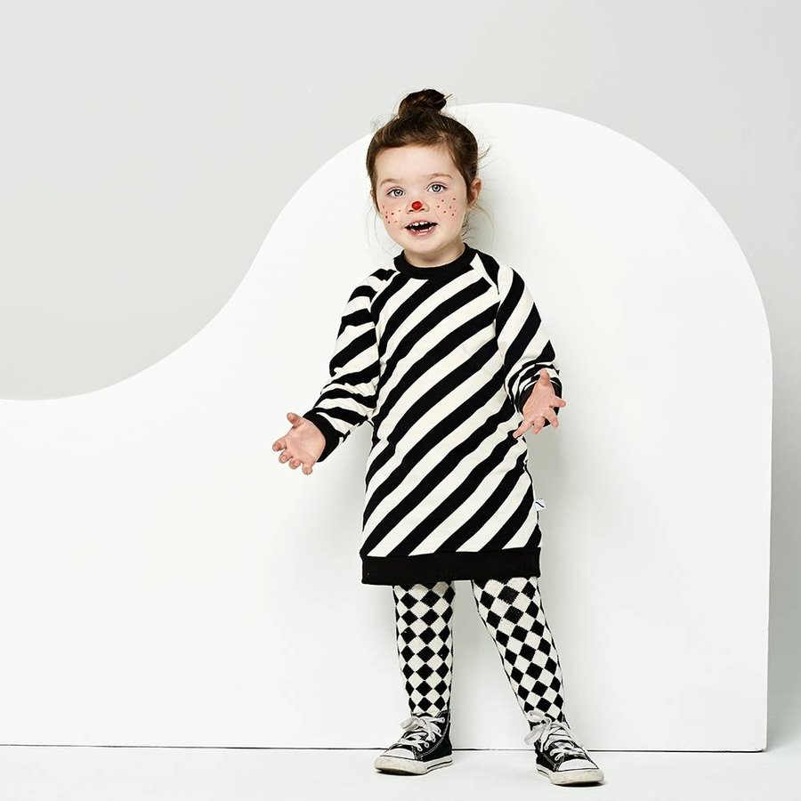 CarlijnQ Sweater Jurk 'Electric Zebra'-2