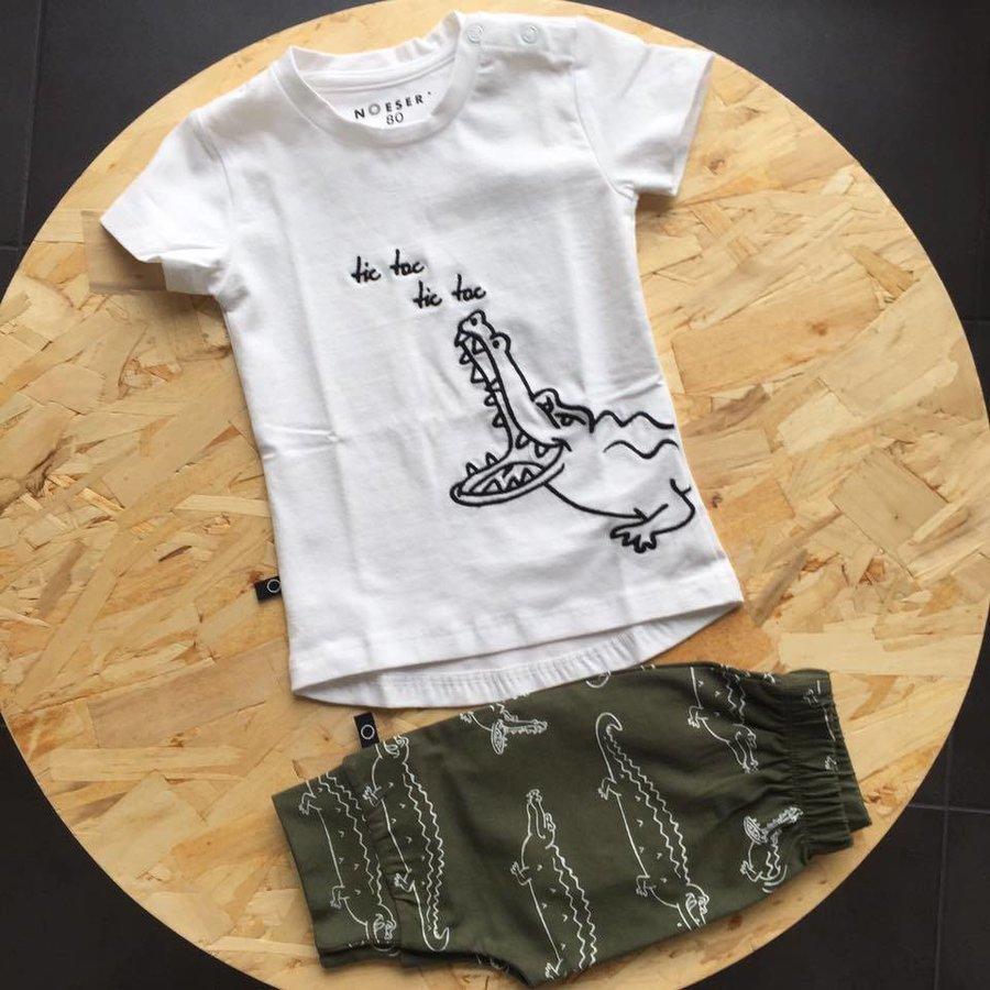 nOeser T-shirt Croco wit-3