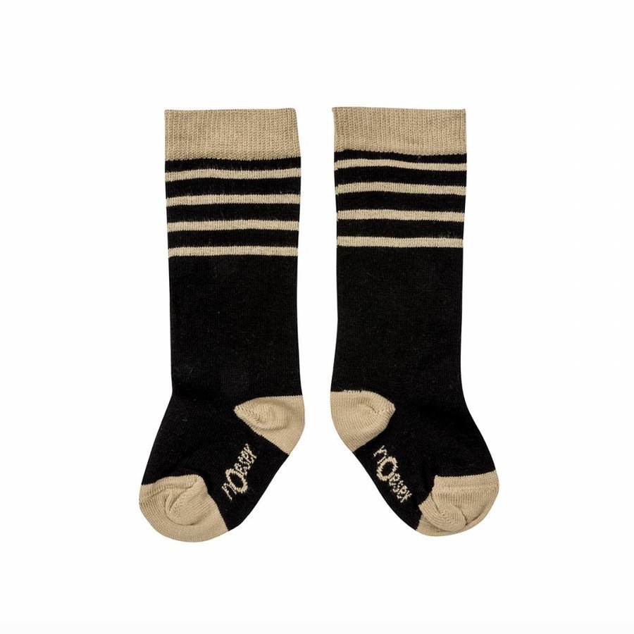 nOeser Sokken met Strepen Zwart-1