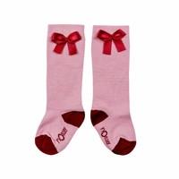 thumb-nOeser Sokken met Strik Roze-1
