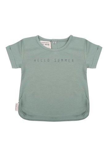 T-shirt Hello Summer Groen