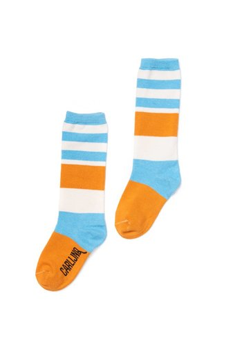 knee socks - blue / yellow