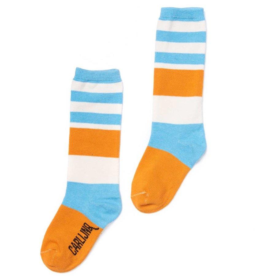 CarlijnQ - knee socks - blue / yellow-1