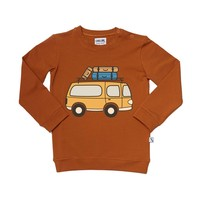thumb-CarlijnQ - road trippin' - sweater with van print-1