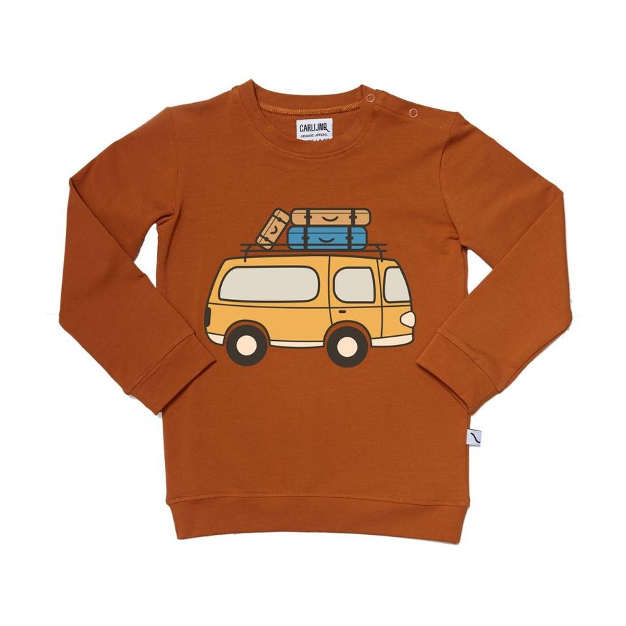 CarlijnQ - road trippin' - sweater with van print-1