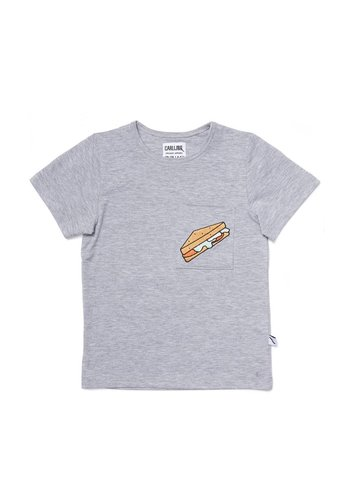 sandwiches - t-shirt grey melange