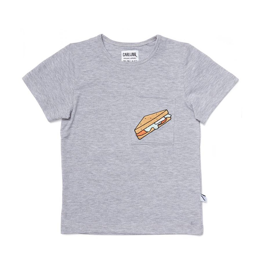 CarlijnQ - sandwiches - t-shirt grey melange + embroidery-1