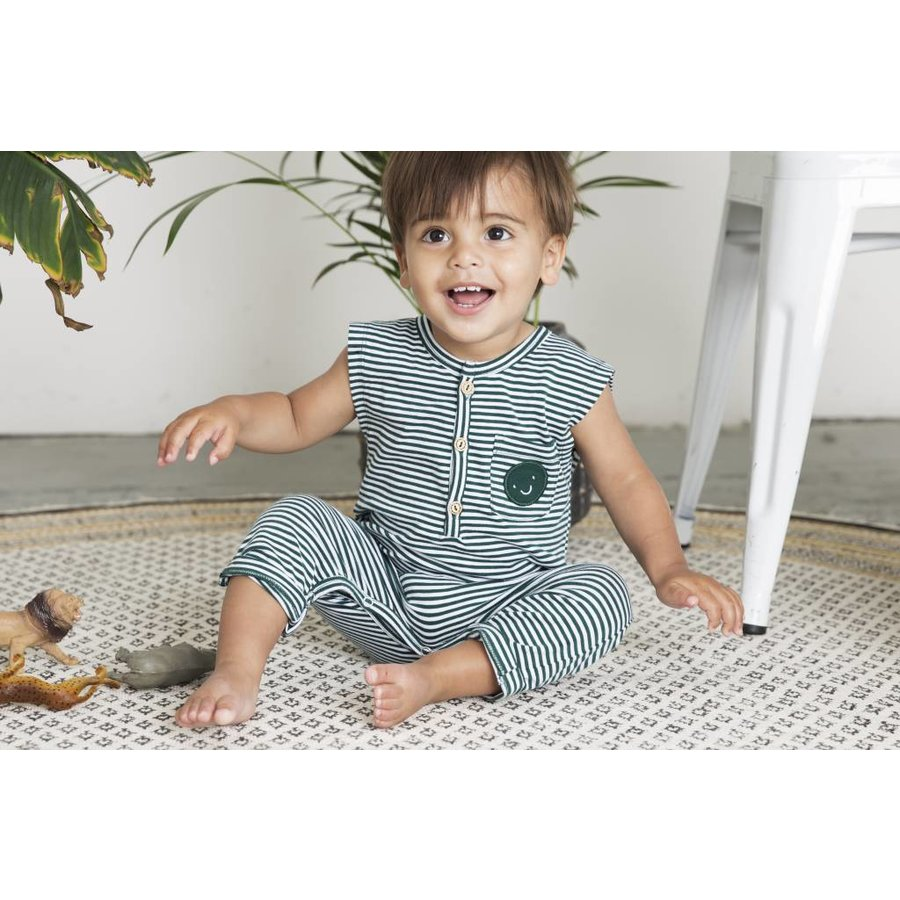 Little indians - Jumpsuit Forest Stripe-3
