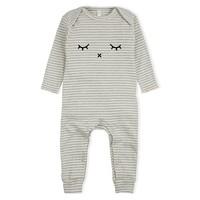 thumb-Organic Zoo - Playsuit Sleepy - Grey Stripes-1