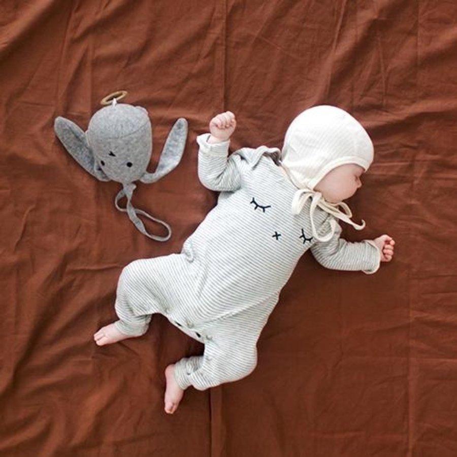 Organic Zoo - Playsuit Sleepy - Grey Stripes-2
