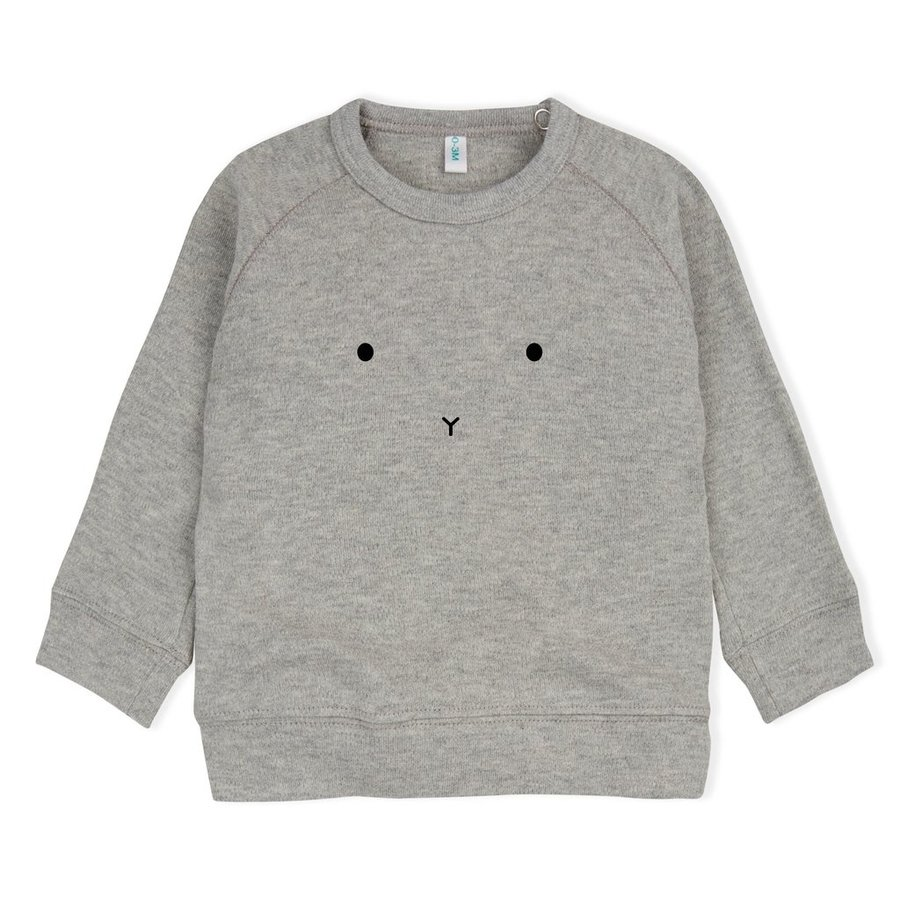 Organic Zoo - Sweatshirt Bunny - Grey-1
