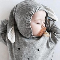 thumb-Organic Zoo - Sweatshirt Bunny - Grey-2