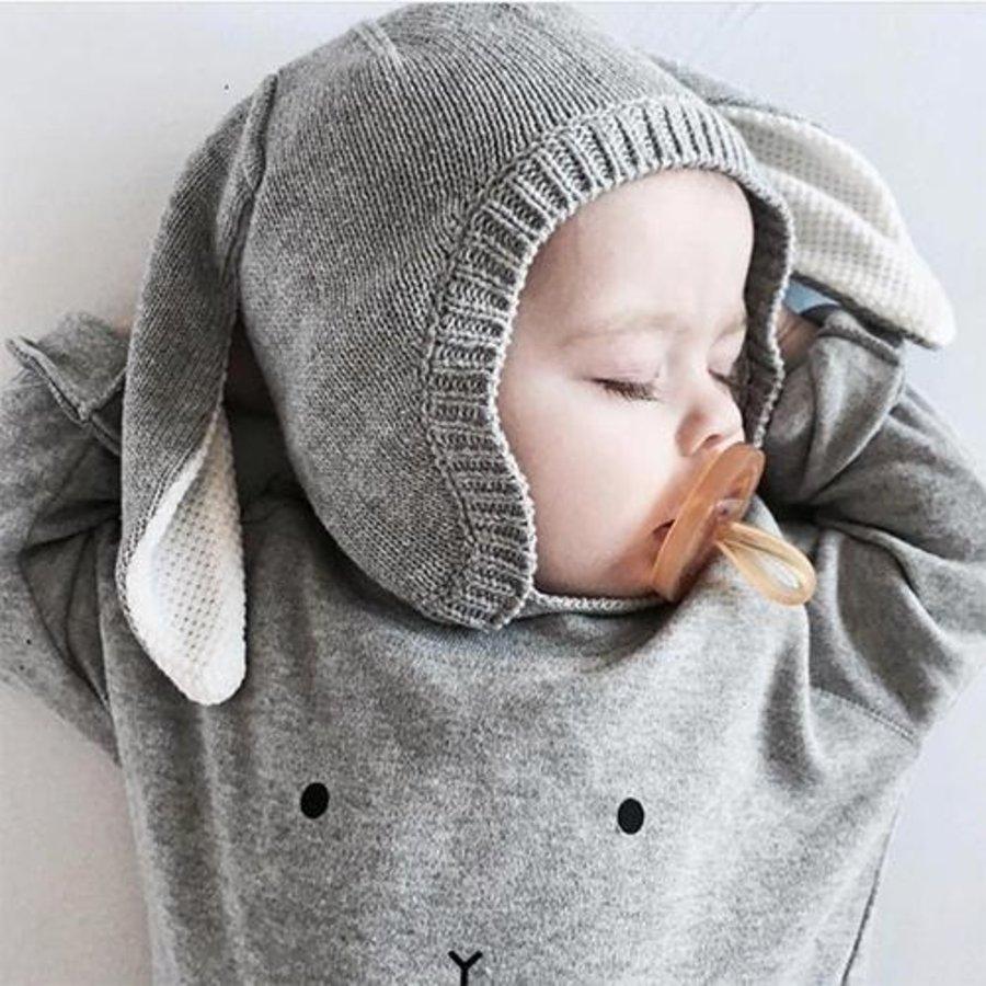 Organic Zoo - Sweatshirt Bunny - Grey-2