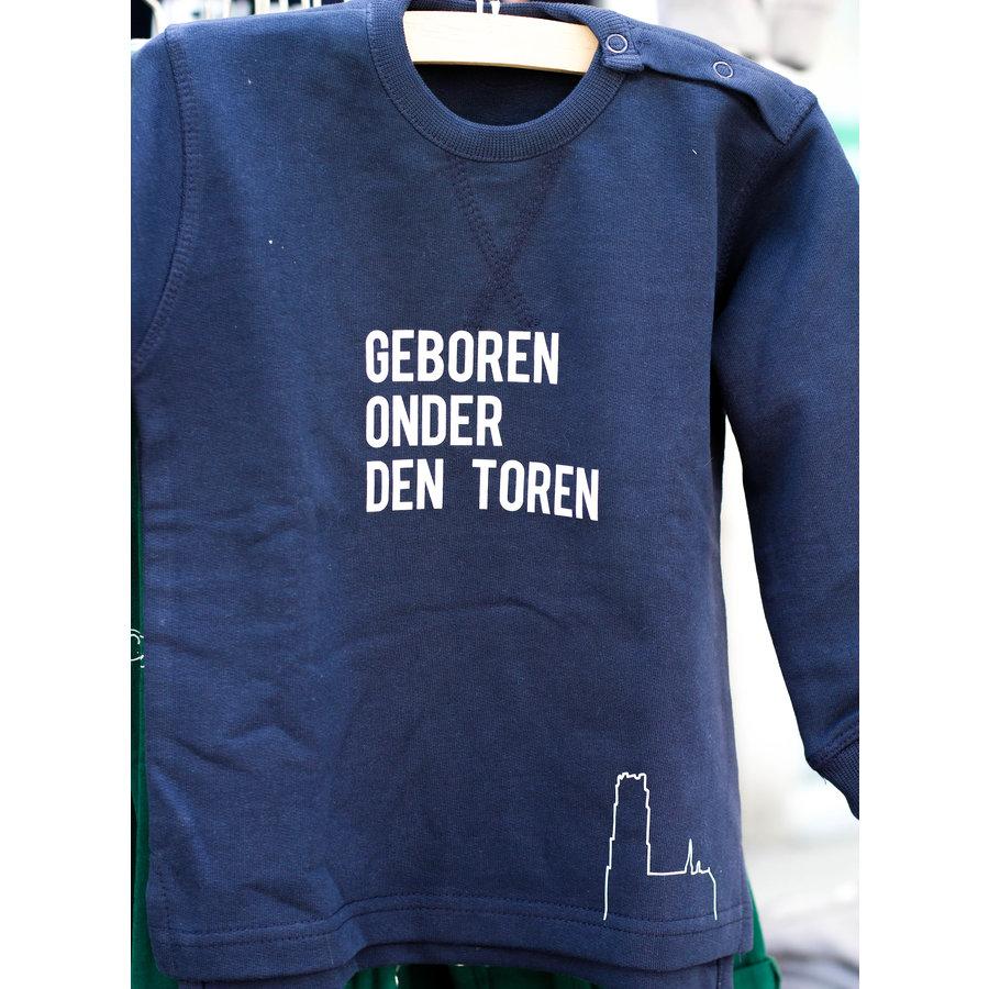 """2800 by Mini Monsters - """"Geboren onder den Toren"""" truitje blauw-2"""