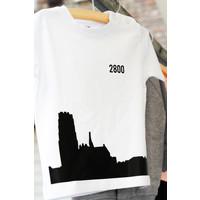 thumb-2800 by Mini Monsters - Skyline Mechelen T-shirt Wit-2