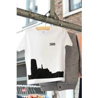 thumb-2800 by Mini Monsters - Skyline Mechelen T-shirt Wit-1