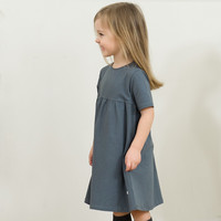 thumb-Frieda Frei Jerseydress - Little Party grey-2