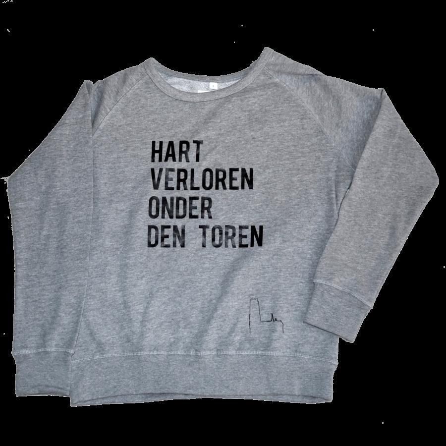 """2800 by Mini Monsters - """"Hart verloren onder den Toren"""" Sweater Grijs Vrouw-1"""