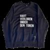 "2800 by Mini Monsters 2800 by Mini Monsters - ""Hart verloren onder den Toren"" Sweater Blauw Man"