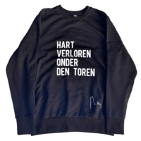 "2800 by Mini Monsters - ""Hart verloren onder den Toren"" Sweater Blauw Man"