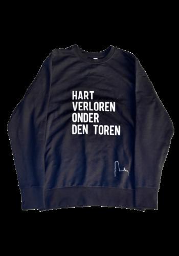 """Hart verloren onder den Toren"" volwassene Sweater Blauw Unisex"