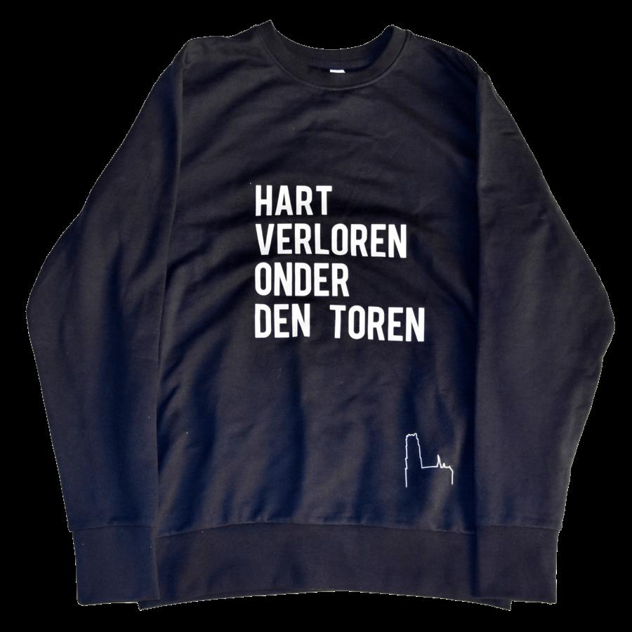 "2800 by Mini Monsters - ""Hart verloren onder den Toren"" Sweater Blauw Man-1"