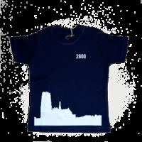 2800 by Mini Monsters - Skyline Mechelen T-shirt Blauw
