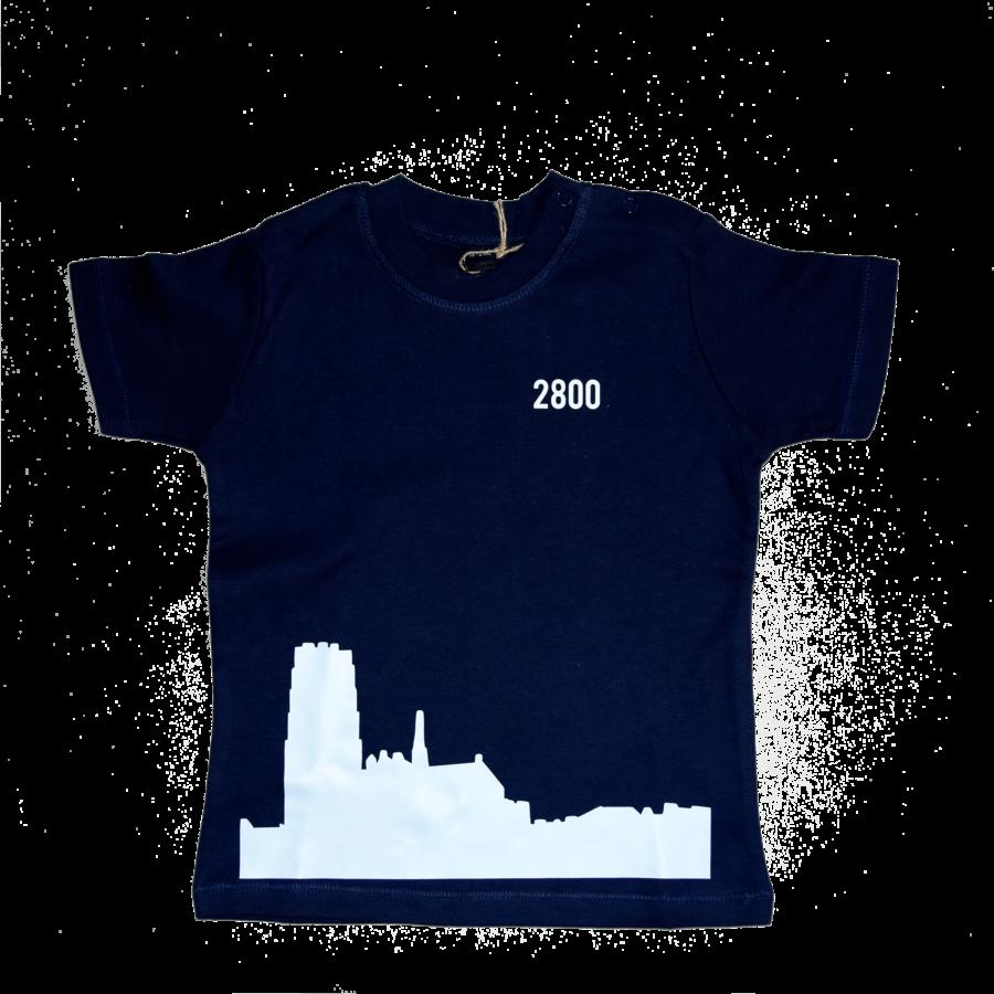 2800 by Mini Monsters - Skyline Mechelen T-shirt Blauw-1
