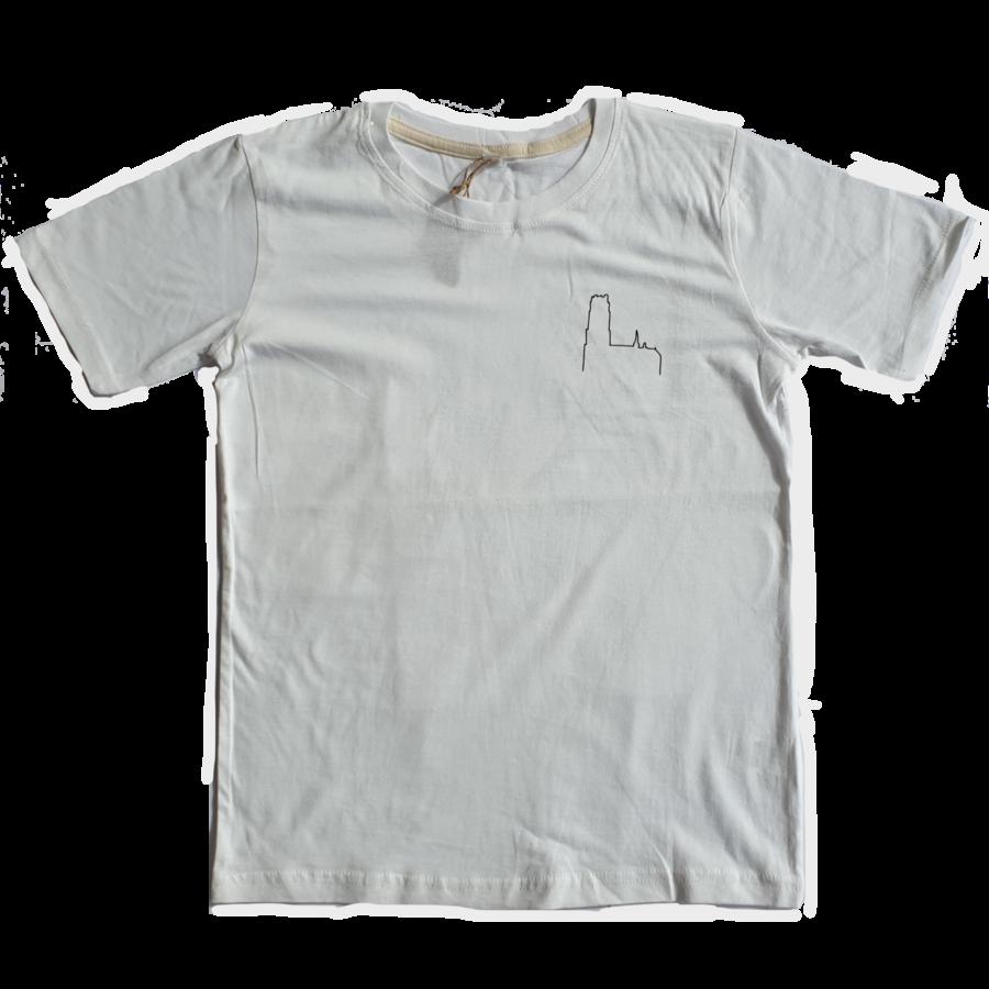 2800 by Mini Monsters - Mechelen Kathedraal T-shirt Wit-1