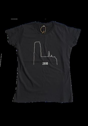 2800 en Kathedraal -  Volwassene T-shirt zwart vrouwen
