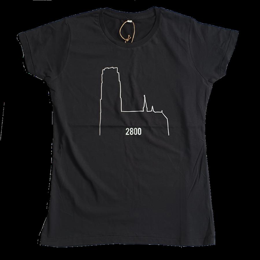 2800 by Mini Monsters - Kathedraal -  Volwassene T-shirt zwart vrouwen-1