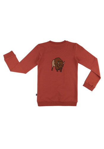 Bison - Sweater pocket w/ bison embroidery on back