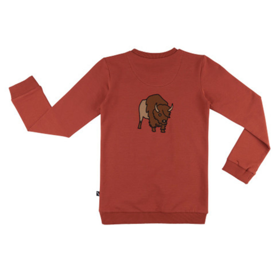 CarlijnQ - Bison - Sweater pocket w/ bison embroidery on back-1