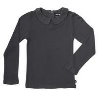 CarlijnQ - Basics - longsleeve collar (grey / rib)