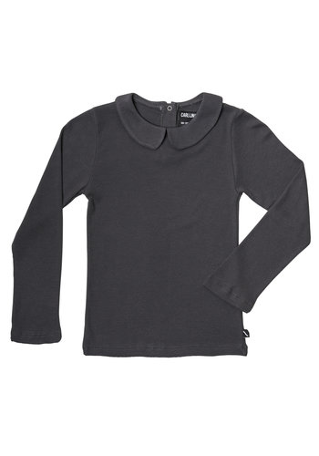 Basics - longsleeve collar (grey / rib)