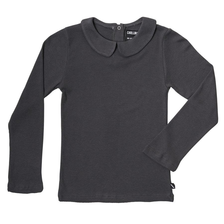 CarlijnQ - Basics - longsleeve collar (grey / rib)-1