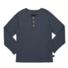 CarlijnQ   CarlijnQ - Basics - henley longsleeve (with 3 buttons / grey / rib)