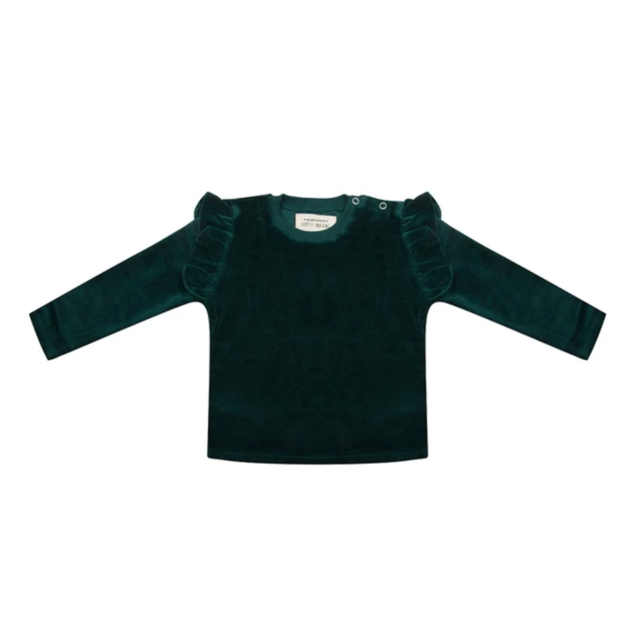 Little indians - Longsleeve Pine Trees Green Velour-1
