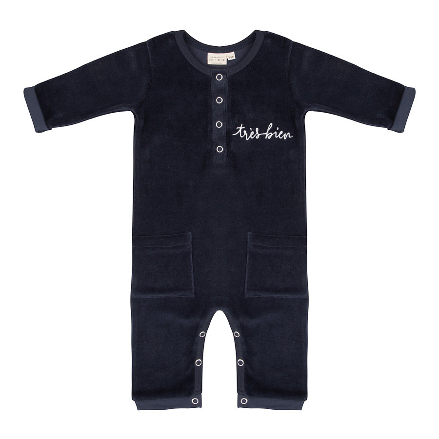 Little indians - Jumpsuit Tres Bien Total Eclipse Velour-1