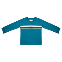thumb-Little indians - Sweater Colourful Rainbow Blue-1