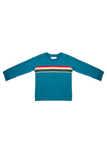 Sweater Colourful Rainbow Blue