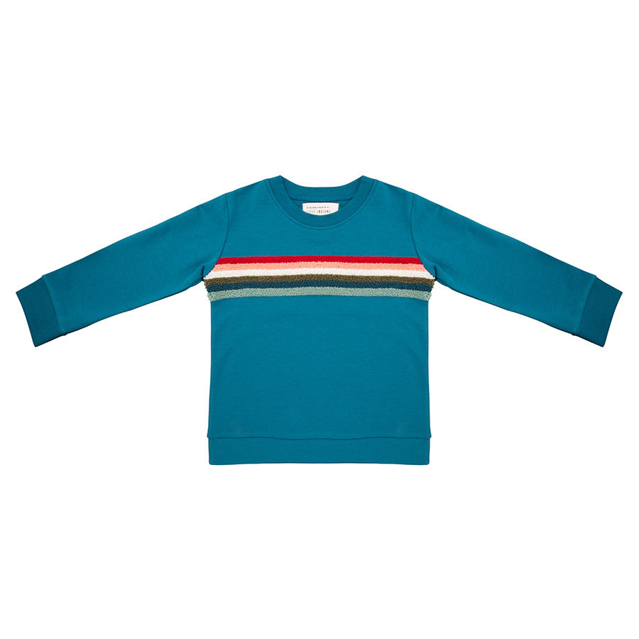 Little indians - Sweater Colourful Rainbow Blue-1
