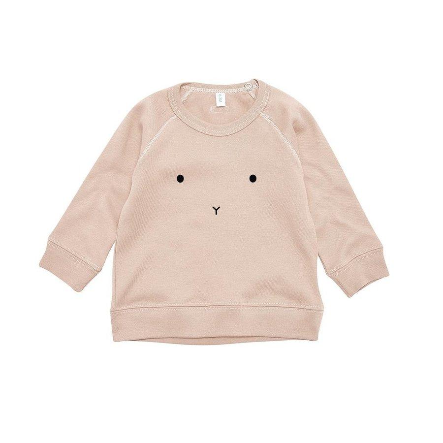 Organic Zoo - Sweatshirt Bunny - Clay-1